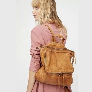 Free People Loved Leather Messenger Backpack